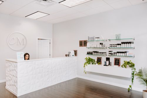 ChicMed front desk and product wall